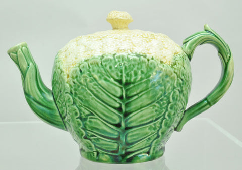 Griffen Smith and Hill Cauliflower Etruscan Majolica Teapot 19th Century