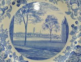 Rare Harvard University 1927 The Freshman Halls A Blue Wedgwood Plate