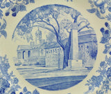 Rare Harvard University 1941 Soldiers Field Monument Blue Wedgwood Plate