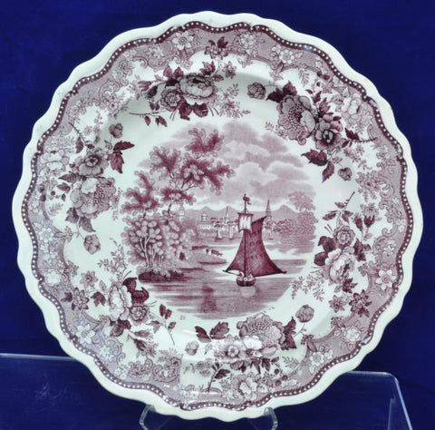 John&Job Jackson Purple Transfer Historical Staffordshire Plate Hartford CT 1833