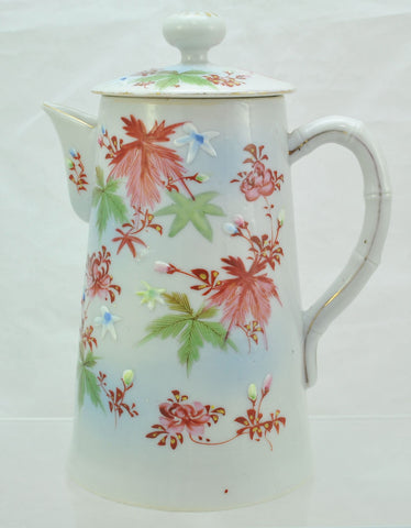 Vintage Hand Painted Japanese Porcelain Coffee Pot