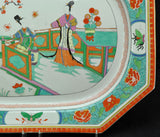 Famille Verte Large 21 Inch Antique Samson of Paris Platter