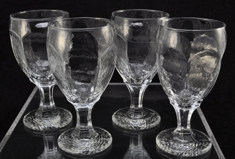 Set(s) of 4 Libbey Chivalry Clear Glass 6 1/2 Inch Water Goblets