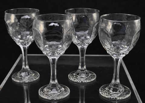 Set(s) of 4 Libbey Chivalry Clear Glass 6 3/8 Inch White Wine Glasses