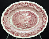 Vintage Masons Pink Vista 15 Inch Platter Excellent Condition