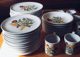 Hand Painted Italian Faience Harvest Wheat 40 Piece Dinner Service Pippo Cetona