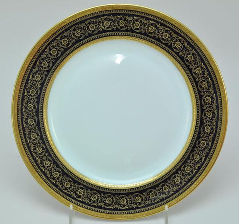 Rosenthal Continental Selb Bavaria 5369 Dark Blue Rim Dinner Plate