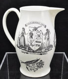 Antique Liverpool Large Creamware Farmer's Arms Pitcher Jug circa 1770