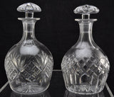 Near Pair of Tudor Crystal English Cut Glass Decanters