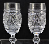 Pair(s) of Waterford Cut Crystal Castletown 8 1/8 Inch Fluted Champagne Glasses