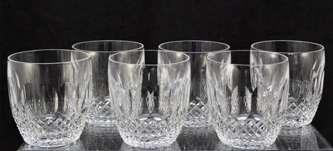 Set of 6 Waterford Cut Crystal Colleen Old Fashioned Tumblers Old Gothic Mark