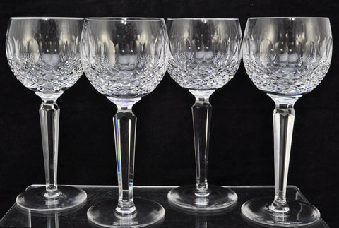 Set of 4 Waterford Cut Crystal Colleen Wine Hocks Old Gothic Mark