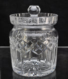 Waterford Cut Crystal Lismore Biscuit Barrel As Is