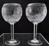 Pair of Waterford Cut Crystal Millennium 8 Inch Balloon Goblets New in Box