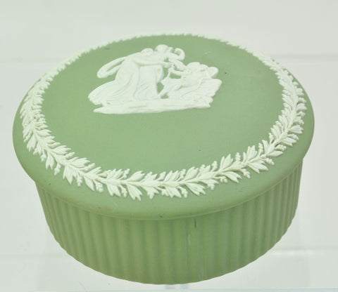 Wedgwood Green Jasper Jasperware Trinket Box