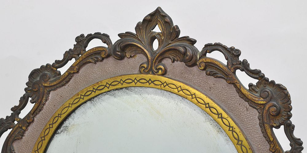 NBIW Antique Gilt Brass Mirror