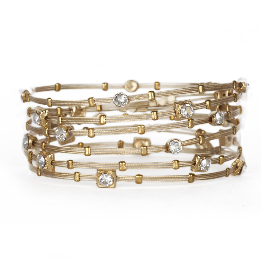 Lucy™  Crystal Bangle Rose Gold Bracelet - Seasonal Whispers