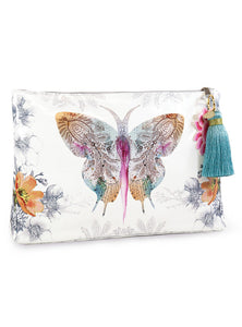 Paisley Butterfly Large Accessory Tassel Pouch