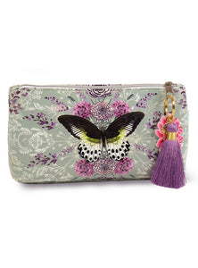 Rare Species Papaya Art Small Tassel Accessory Bag