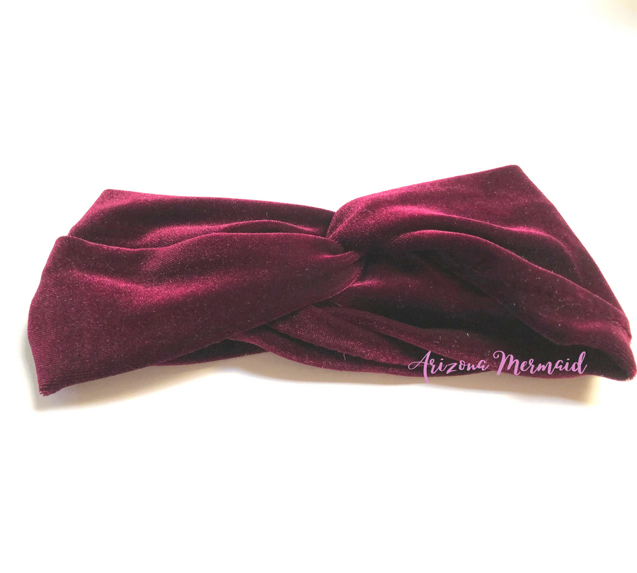 Velvet Twisted Knotted Head Band - Solid Colors