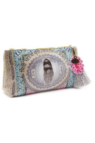 LOVE FEATHER  Small Accessory Pouch