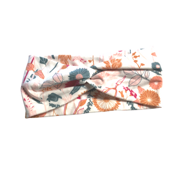 Twisted Knotted Wide Head Band - Cotton Jersey Prints