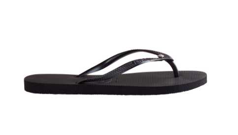 Havaiana Crystal Glamour Black Flip Flop with your choice of Swarovski Stone