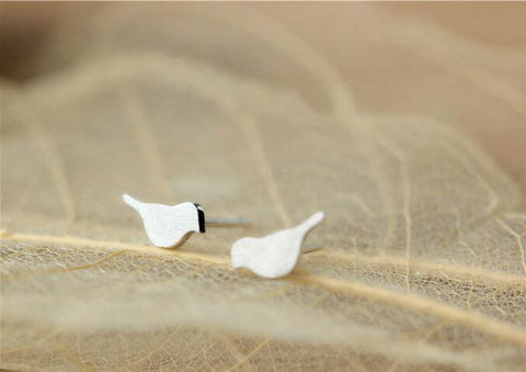 Sterling Silver Animal Bird Stud Earrings
