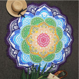 Lotus Printed Bohemian Beach Towel, Yoga Mat, Coverup