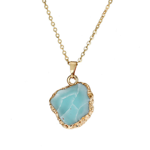 Druzy Stone Pendant Necklace