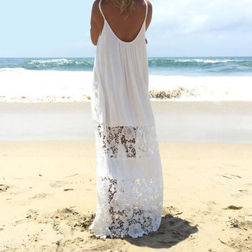 Lace Patchwork Maxi Dress
