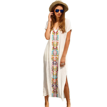Boho Maxi Embroidered  Dress