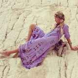 Bohemian Embroidered Maxi Dress