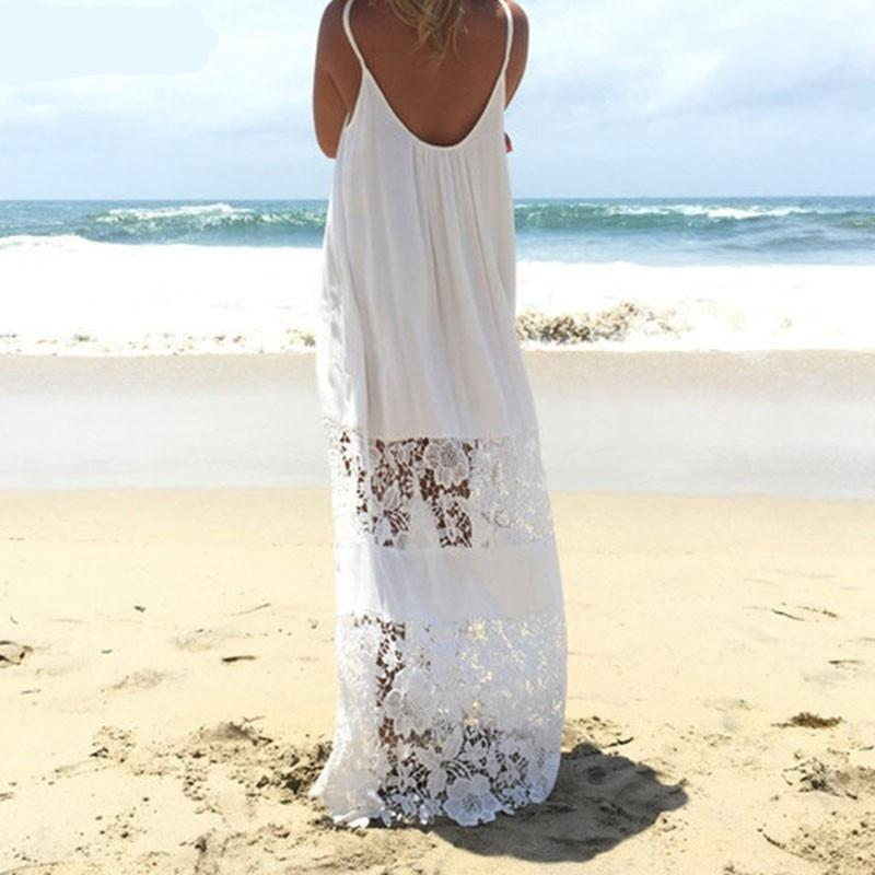 Lace Maxi Beach Dress Cover Up