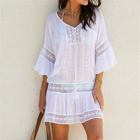 Bamboo Cotton Summer Pareo Beach Cover Up
