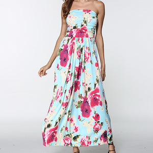 Strapless Off Shoulder Maxi Dress Sundress