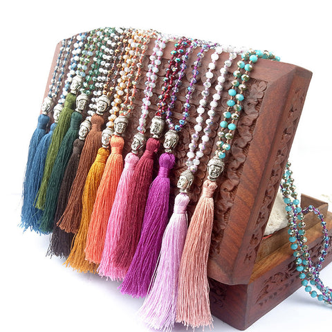 Buddha Bohemian Tassel Necklace