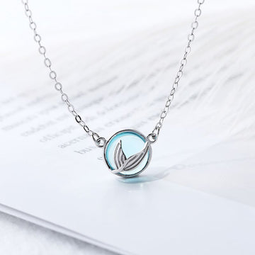 Mermaid Crystal Tail Necklace