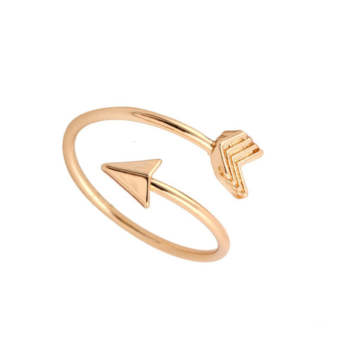 Adjustable Brass Small Arrow Ring-gold,silver,rose gold