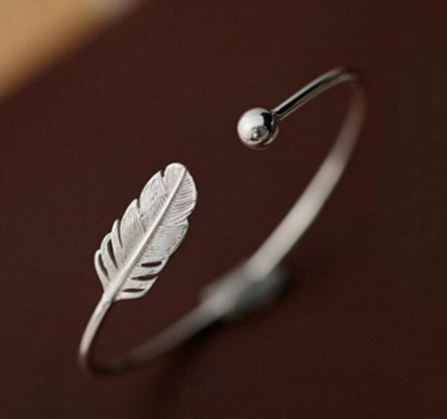 BLUE Feather ™ Bangle Bracelet