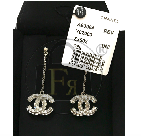 Real vs. Fake Chanel A63084 Crystals Earrings