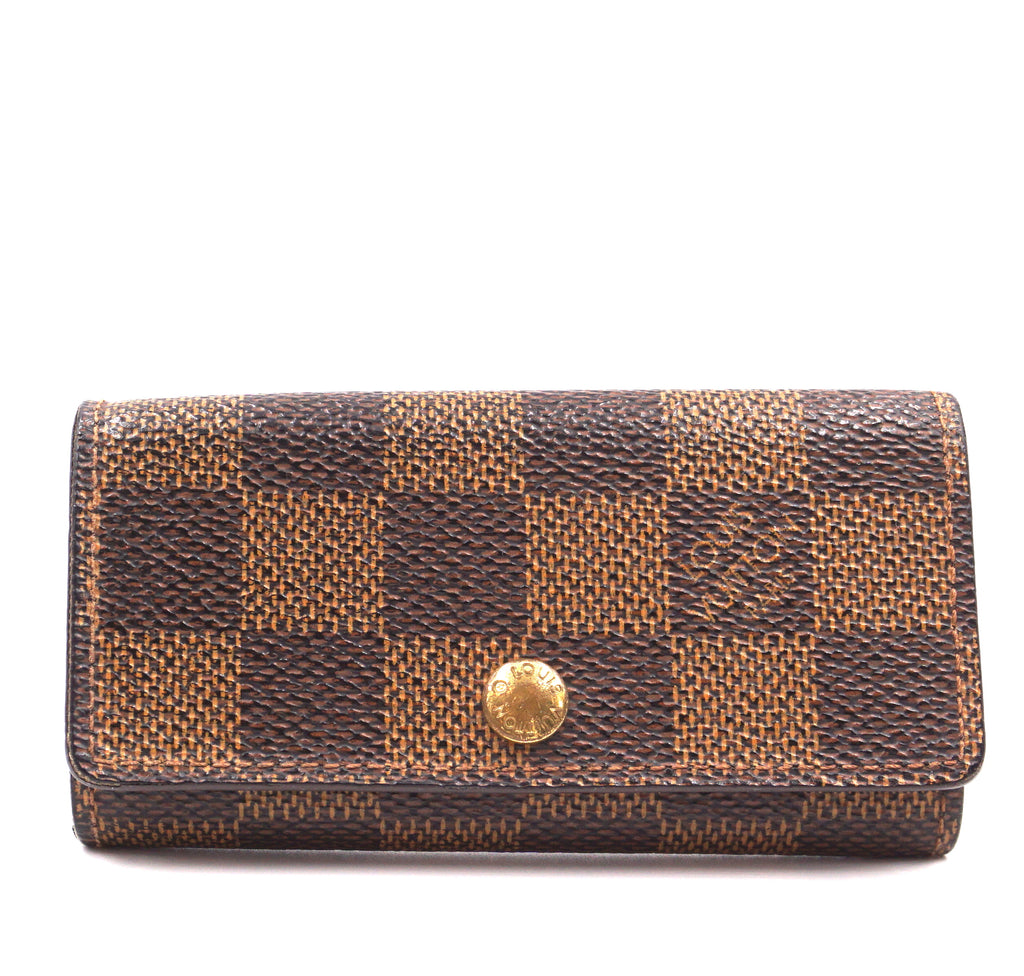 Louis Vuitton Damier Ebene Trifold 4 Ring Key Holder