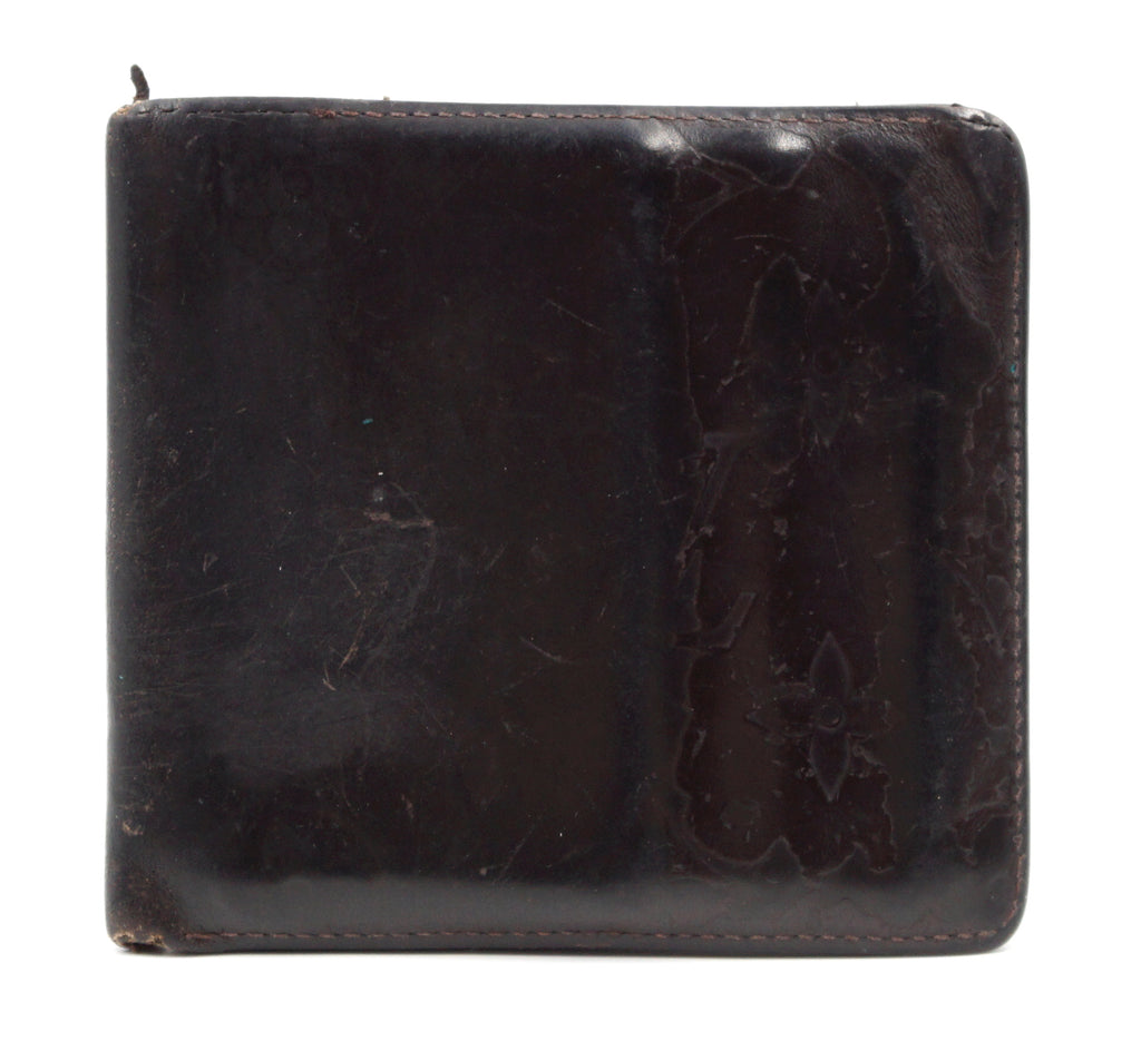 Louis Vuitton Black Monogram Glazed Leather Bifold Wallet