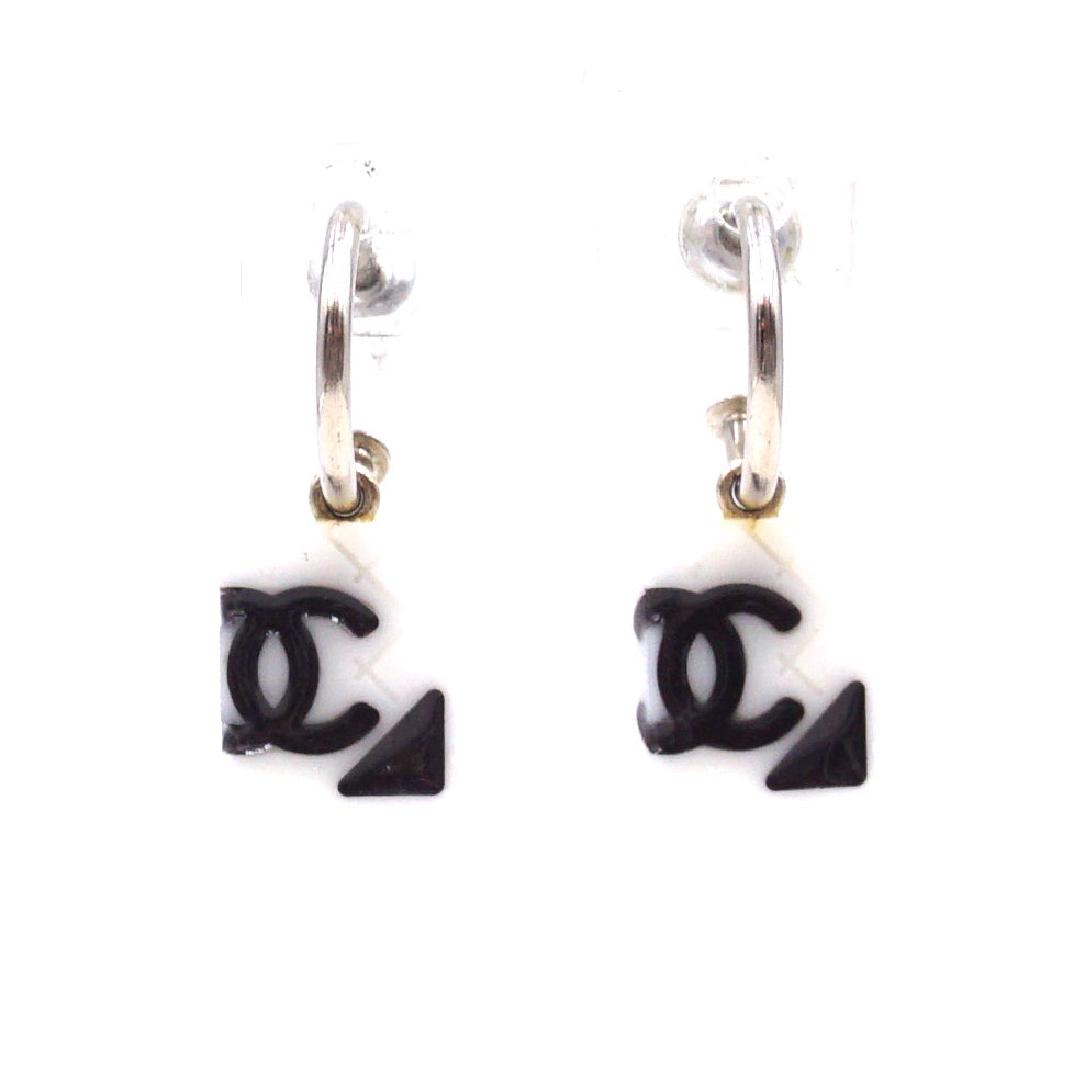 Chanel CC Cambon Dangle Stud Earrings