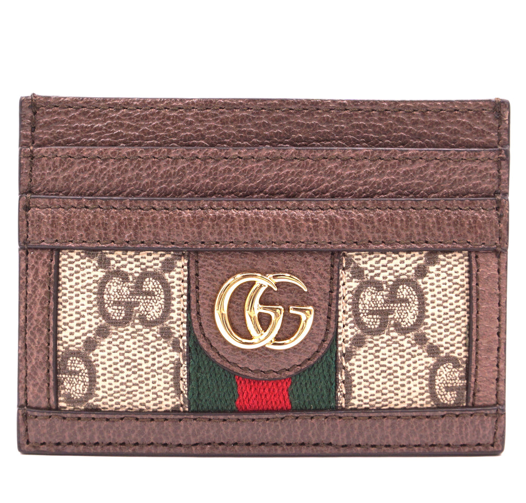 Gucci Biege Marmont Ophidia GG Card Case