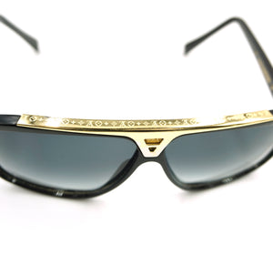 Louis Vuitton Black Gold Monogram Evidence Lens Sunglasses