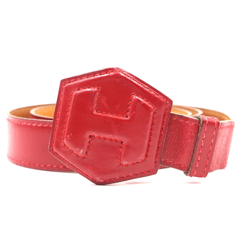 Hermès 24mm H Reversible Leather Belt Adjustable Size 70