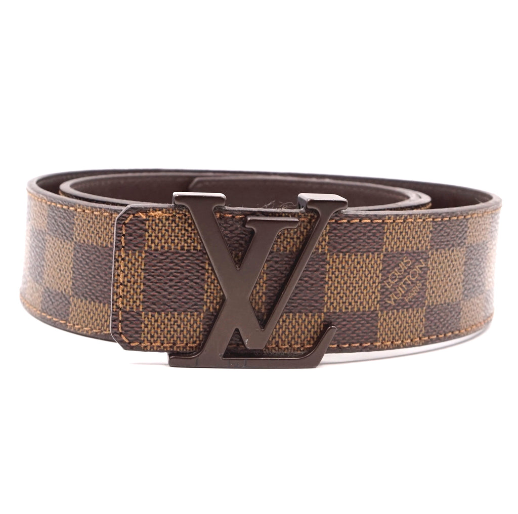 Louis Vuitton 40mm LV Logo Initials Damier Ebene Belt Size 95/38
