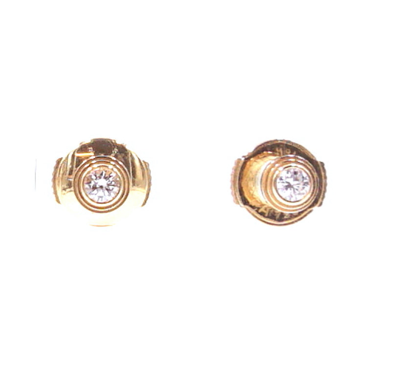 Cartier 18k 750 Diamond Mini Diamants LÉgers Earrings
