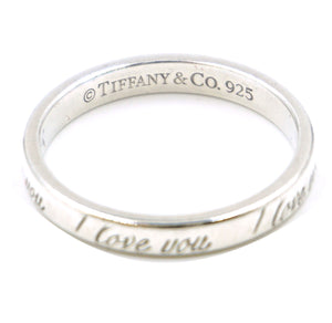 Tiffany & Co. Silver 925 Sterling Love You Ring Size 6.75